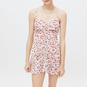 Urban Outfitters White Mar Cinched Mini Dress
